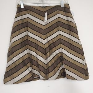 The limited Chevron print lined skirt sz.4 NWT